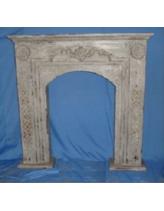 Портал для камина серый