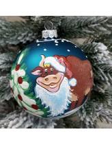 """Елочная игрушка """"Бык-Дед Мороз"""""""